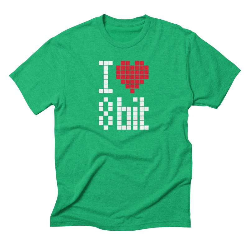 I Love Eight Bit Men's Triblend T-Shirt by Brett Jordan's Artist Shop