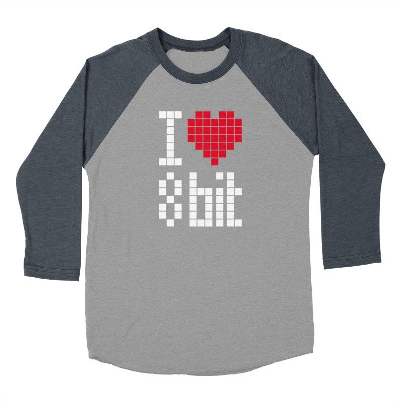 I Love Eight Bit Women's Baseball Triblend Longsleeve T-Shirt by Brett Jordan's Artist Shop