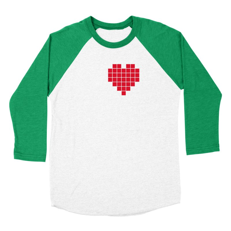 I Love Eight Bit Men's Baseball Triblend Longsleeve T-Shirt by Brett Jordan's Artist Shop