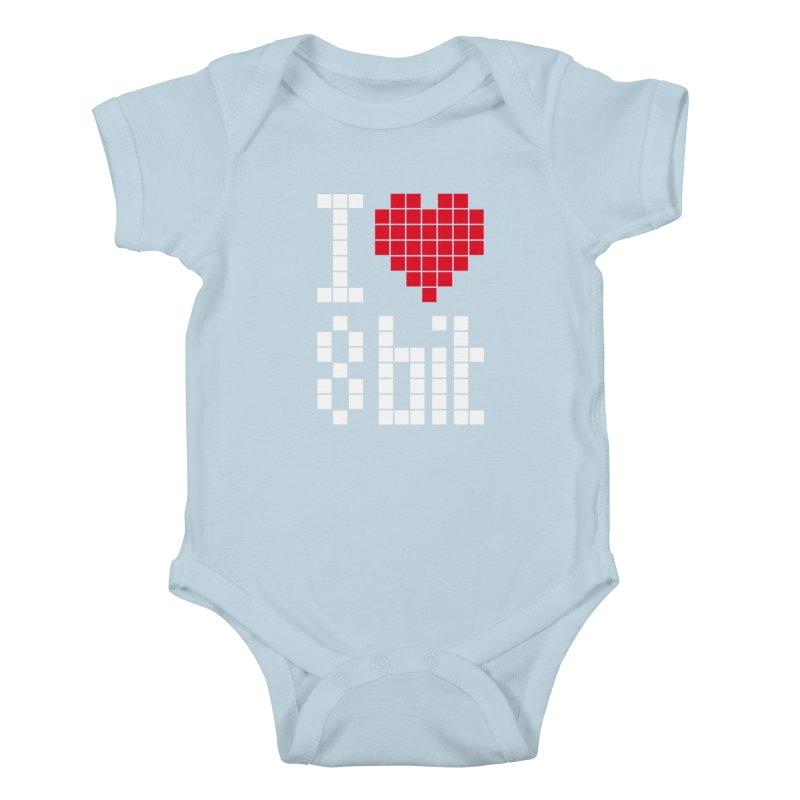 I Love Eight Bit Kids Baby Bodysuit by Brett Jordan's Artist Shop