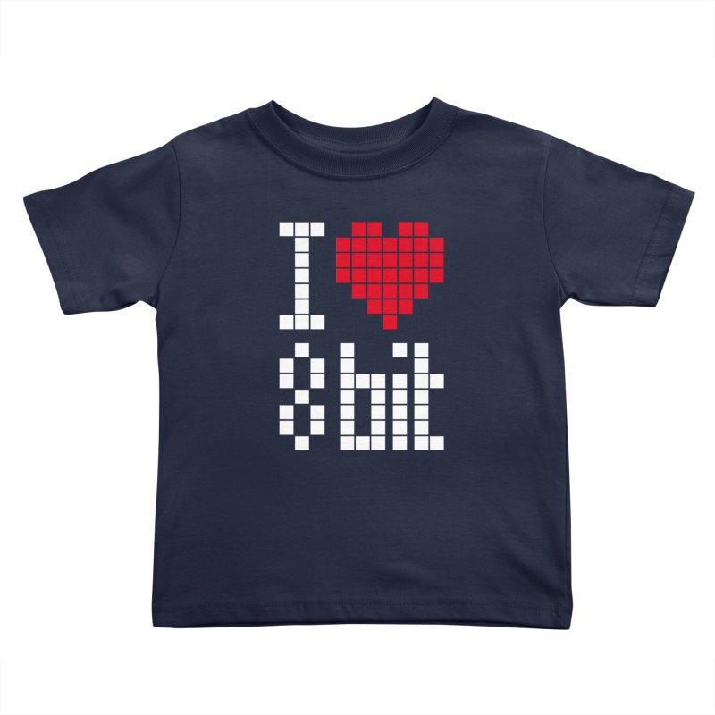I Love Eight Bit Kids Toddler T-Shirt by Brett Jordan's Artist Shop