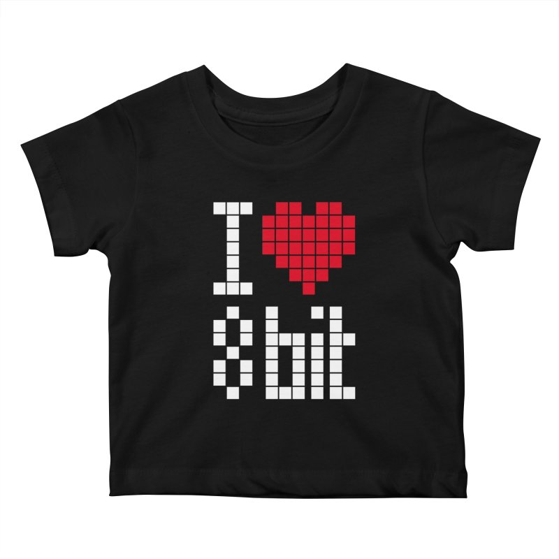 I Love Eight Bit Kids Baby T-Shirt by Brett Jordan's Artist Shop