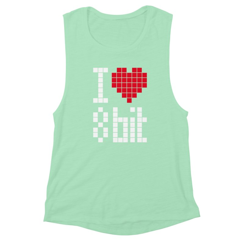 I Love Eight Bit Women's Muscle Tank by Brett Jordan's Artist Shop