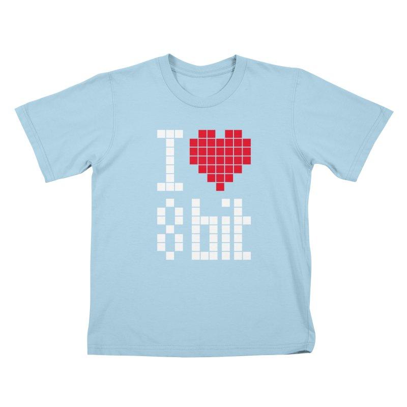I Love Eight Bit Kids T-Shirt by Brett Jordan's Artist Shop