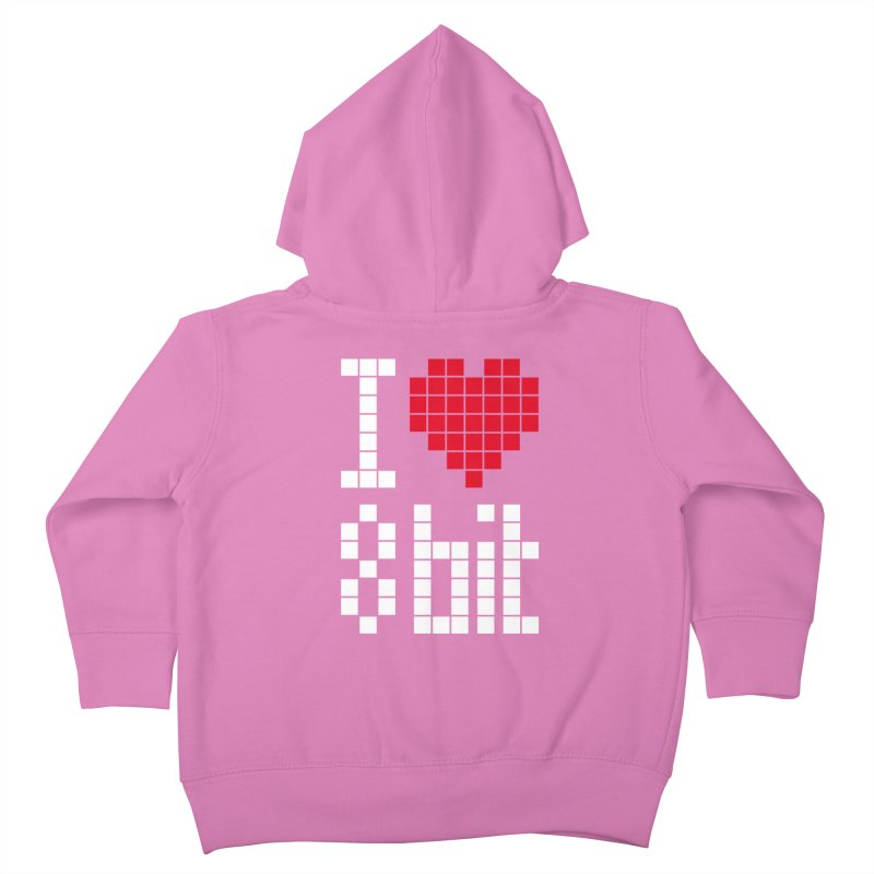 I Love Eight Bit Kids Toddler Zip-Up Hoody by Brett Jordan's Artist Shop