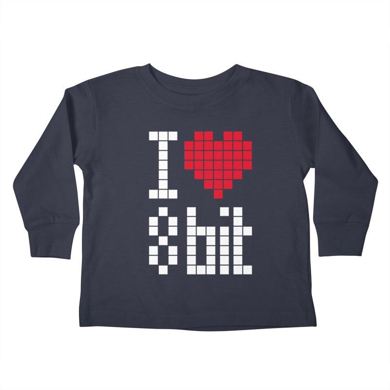 I Love Eight Bit Kids Toddler Longsleeve T-Shirt by Brett Jordan's Artist Shop