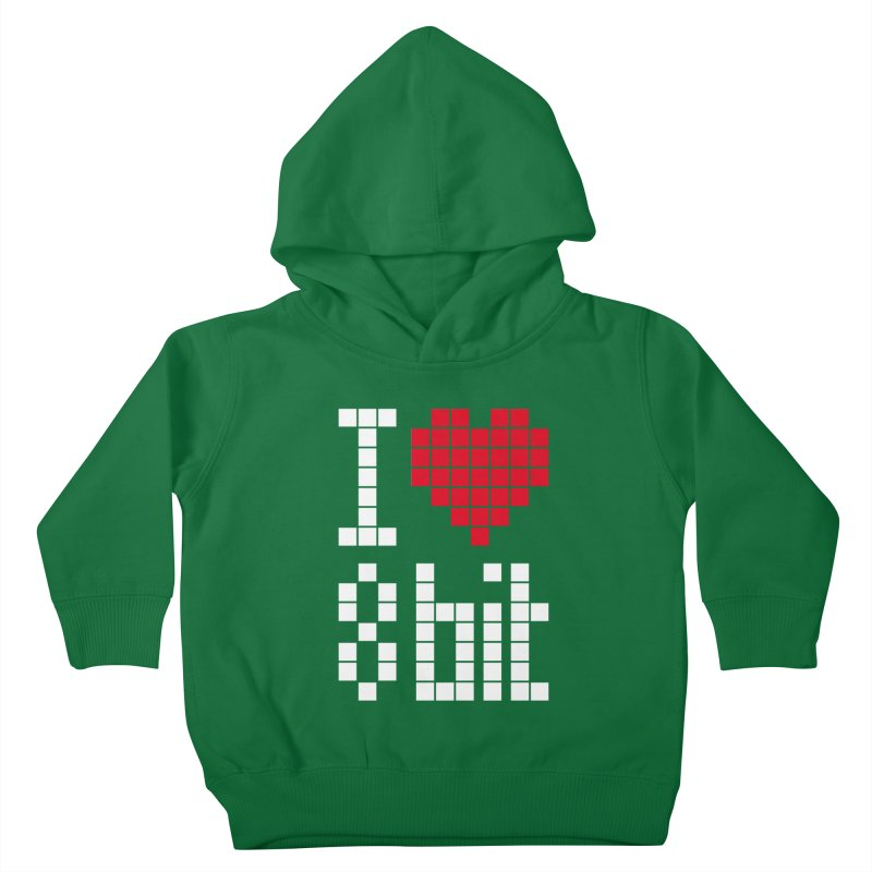 I Love Eight Bit Kids Toddler Pullover Hoody by Brett Jordan's Artist Shop