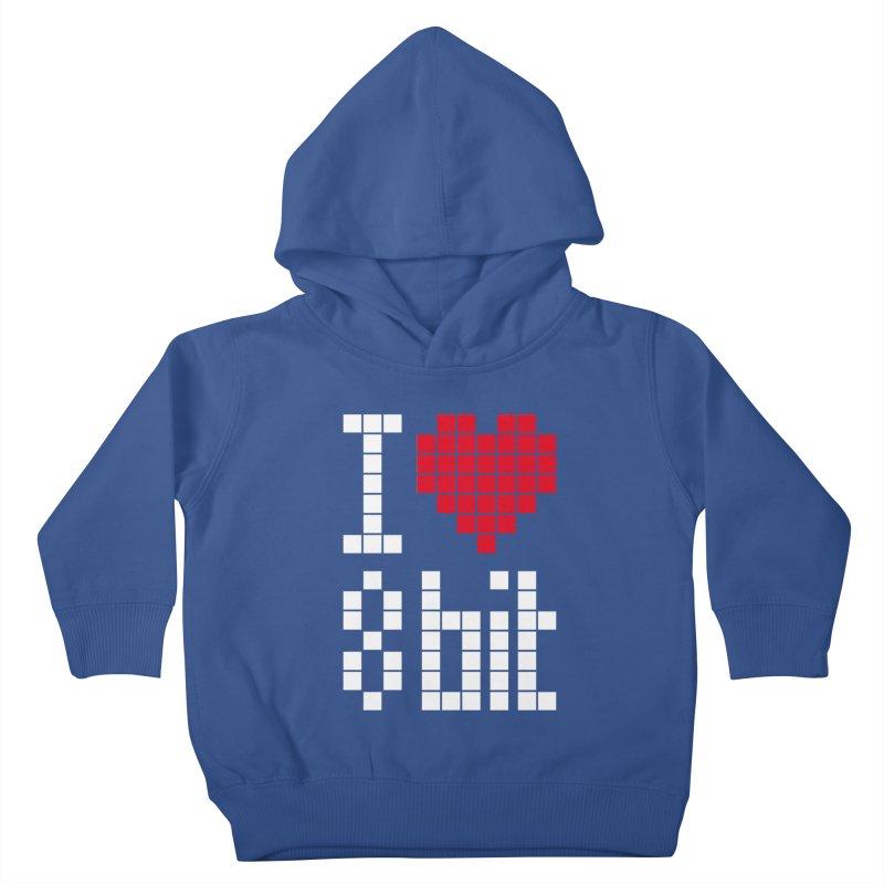 I Love Eight Bit Kids Toddler Pullover Hoody by Brett Jordan's Artist Shop