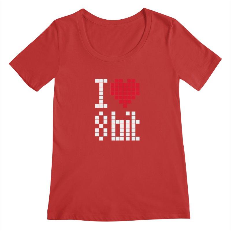 I Love Eight Bit Women's Regular Scoop Neck by Brett Jordan's Artist Shop