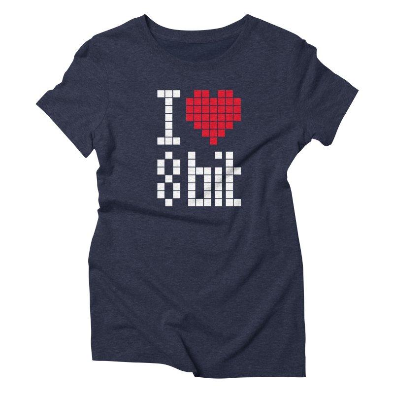 I Love Eight Bit Women's T-Shirt by Brett Jordan's Artist Shop