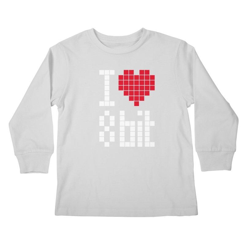 I Love Eight Bit Kids Longsleeve T-Shirt by Brett Jordan's Artist Shop