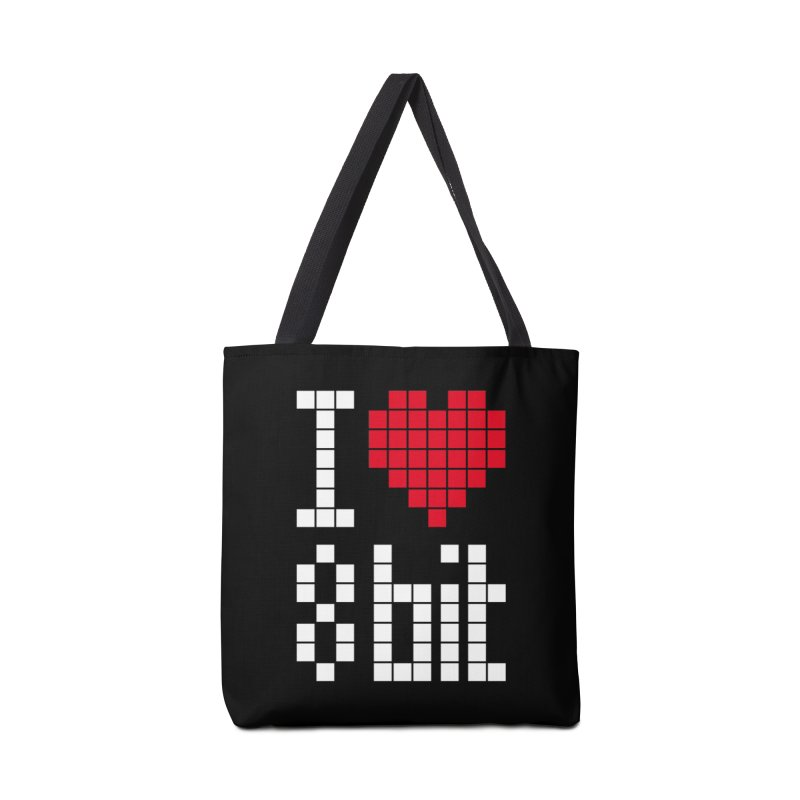 I Love Eight Bit Accessories Tote Bag Bag by Brett Jordan's Artist Shop