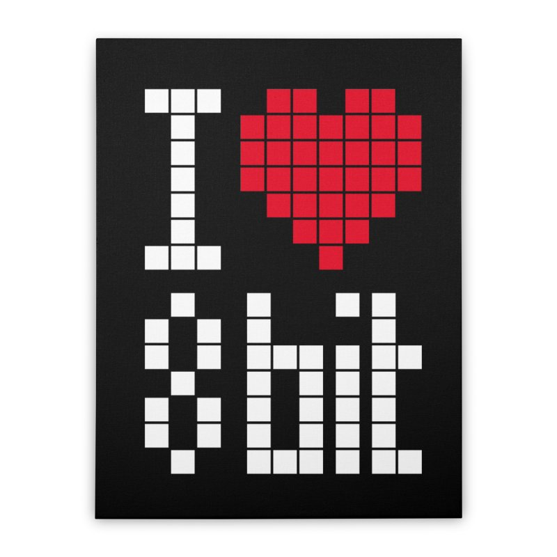 I Love Eight Bit Home Stretched Canvas by Brett Jordan's Artist Shop