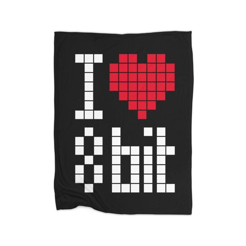I Love Eight Bit Home Blanket by Brett Jordan's Artist Shop