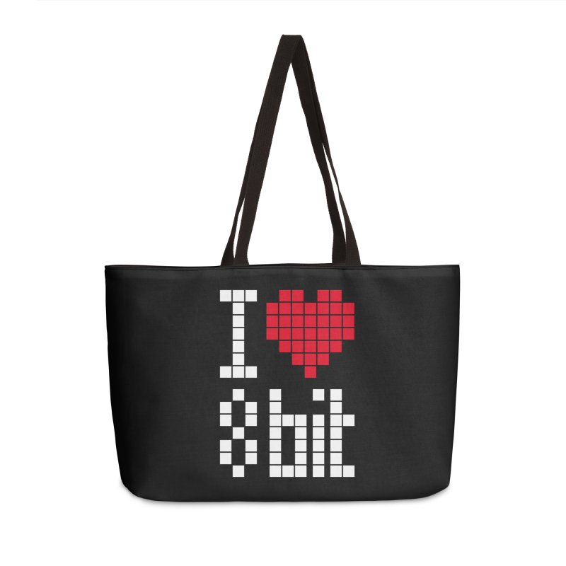 I Love Eight Bit Accessories Weekender Bag Bag by Brett Jordan's Artist Shop
