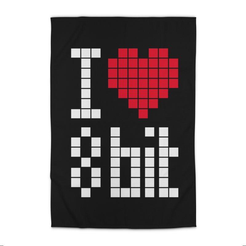 I Love Eight Bit Home Rug by Brett Jordan's Artist Shop