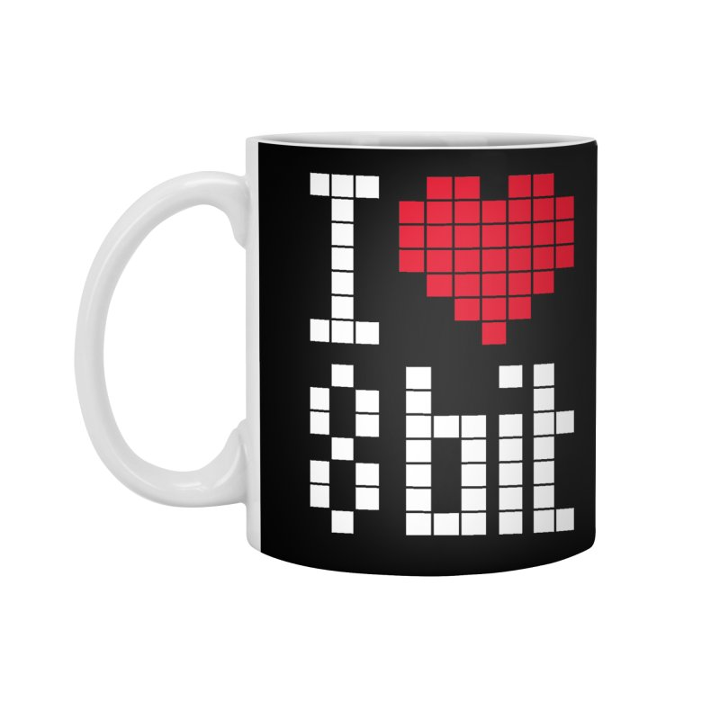 I Love Eight Bit Accessories Standard Mug by Brett Jordan's Artist Shop