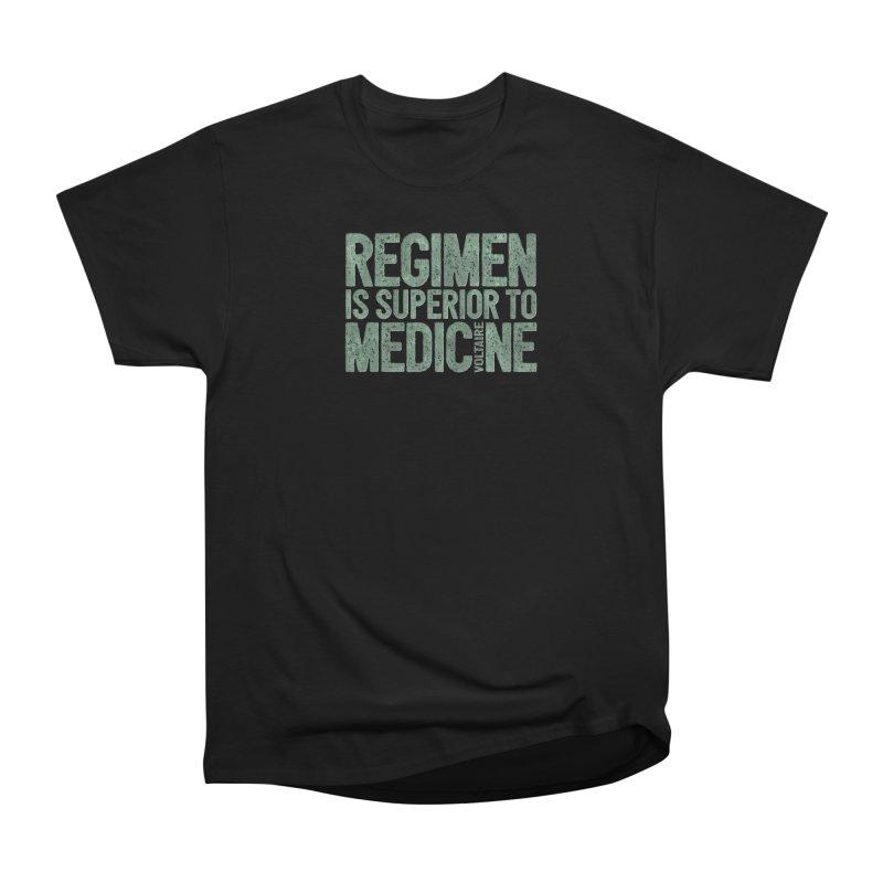 Regimen is superior to medicine Men's Heavyweight T-Shirt by Brett Jordan's Artist Shop