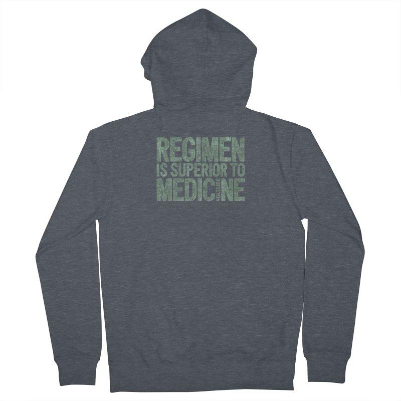 Regimen is superior to medicine Men's French Terry Zip-Up Hoody by Brett Jordan's Artist Shop