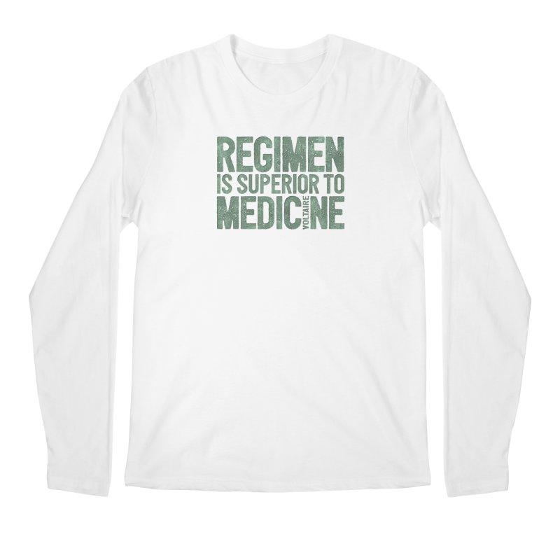 Regimen is superior to medicine Men's Longsleeve T-Shirt by Brett Jordan's Artist Shop
