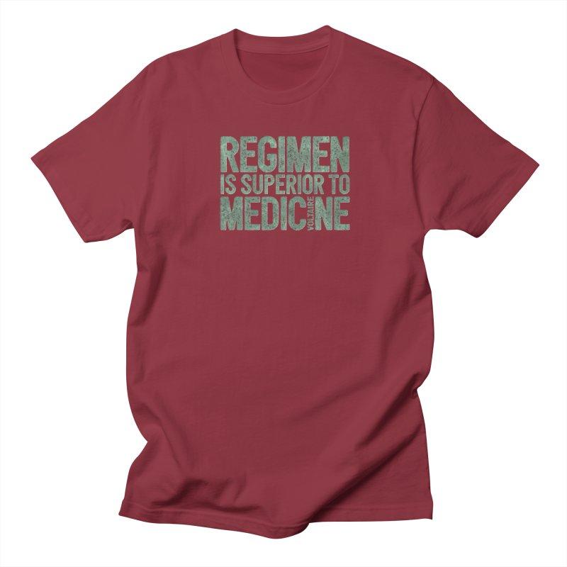 Regimen is superior to medicine Men's Regular T-Shirt by Brett Jordan's Artist Shop