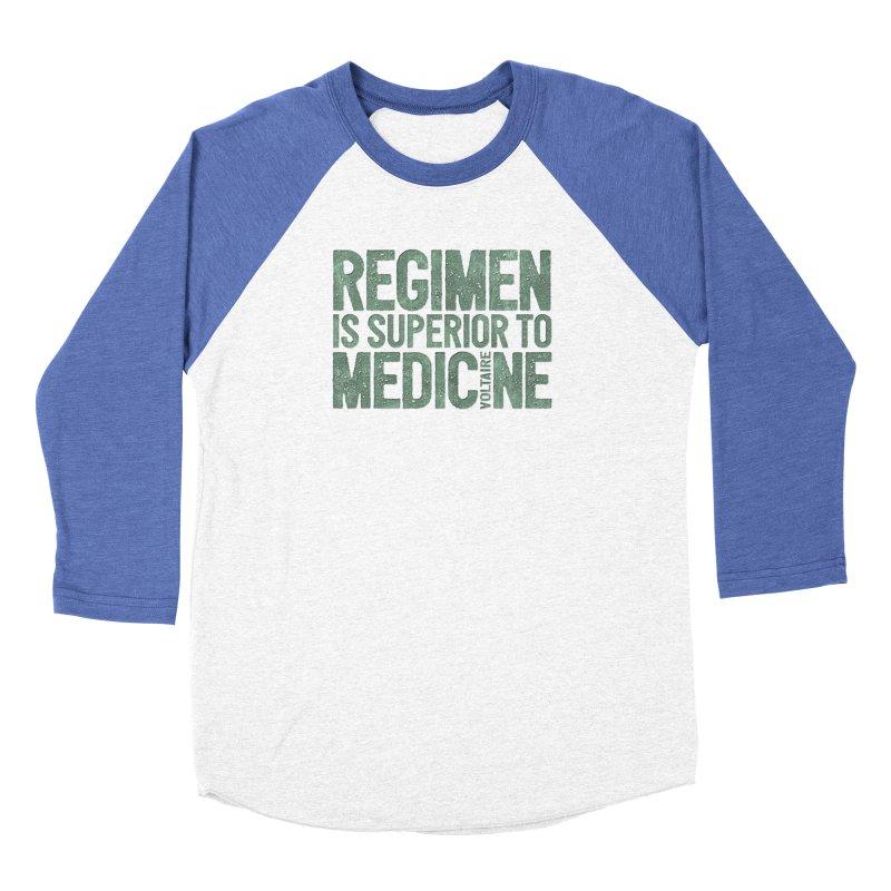 Regimen is superior to medicine Men's Baseball Triblend Longsleeve T-Shirt by Brett Jordan's Artist Shop