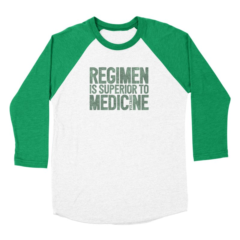 Regimen is superior to medicine Men's Baseball Triblend Longsleeve T-Shirt by Brett Jordan's Artist Shop