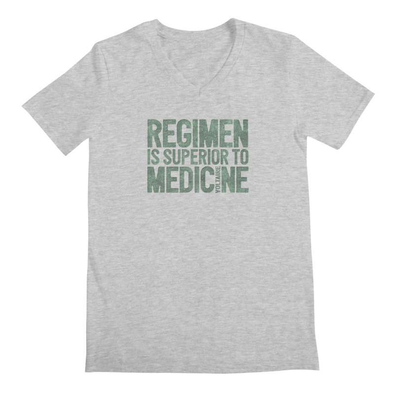 Regimen is superior to medicine Men's Regular V-Neck by Brett Jordan's Artist Shop