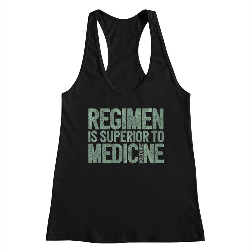 Regimen is superior to medicine Women's Racerback Tank by Brett Jordan's Artist Shop