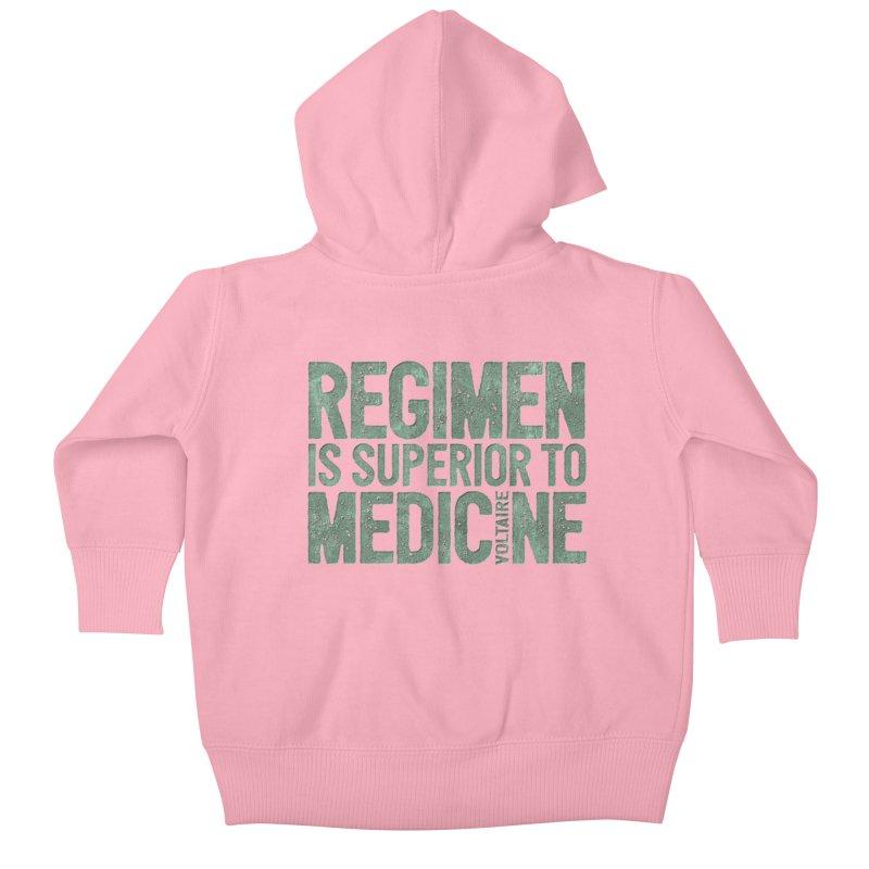 Regimen is superior to medicine Kids Baby Zip-Up Hoody by Brett Jordan's Artist Shop