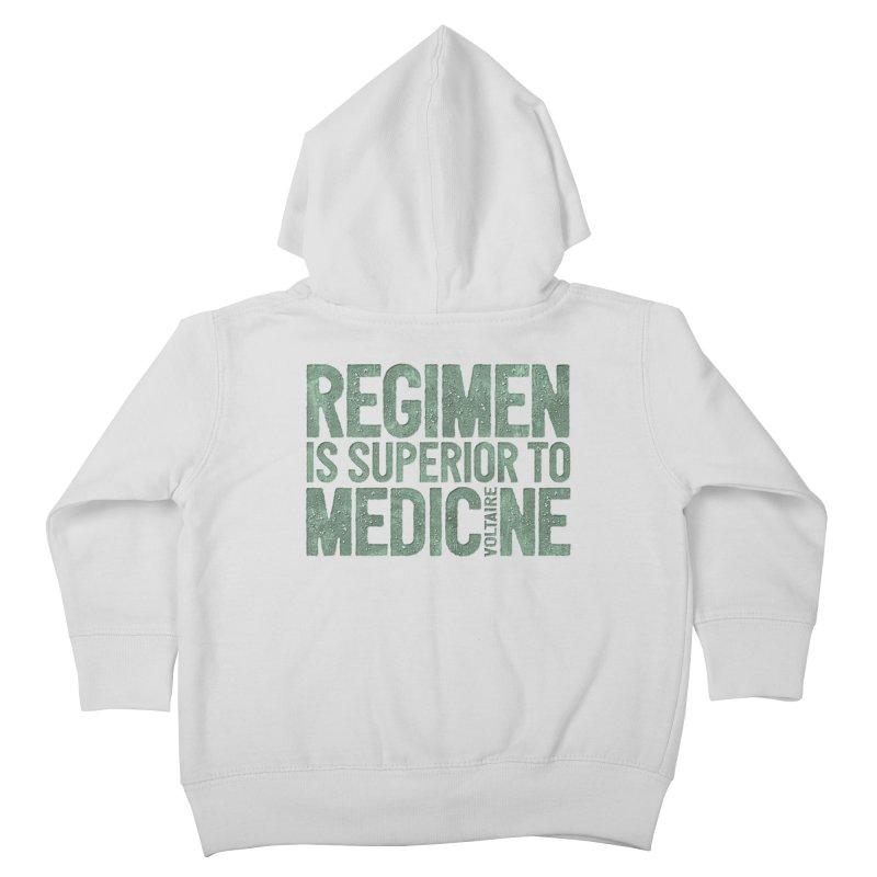 Regimen is superior to medicine Kids Toddler Zip-Up Hoody by Brett Jordan's Artist Shop