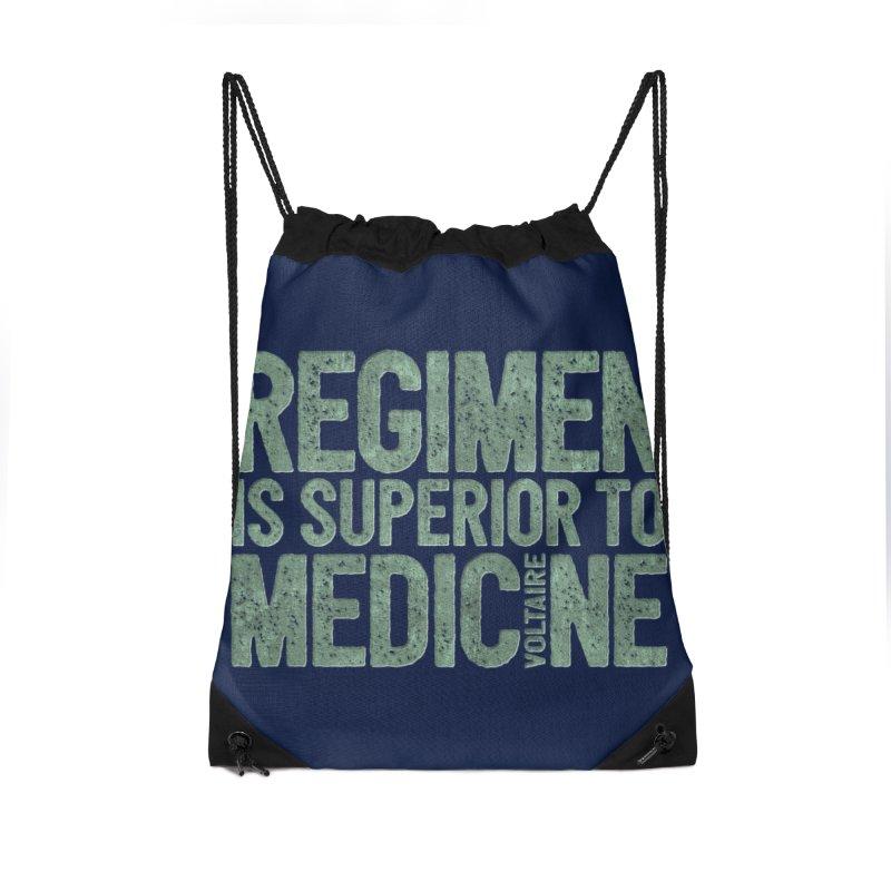 Regimen is superior to medicine Accessories Drawstring Bag Bag by Brett Jordan's Artist Shop