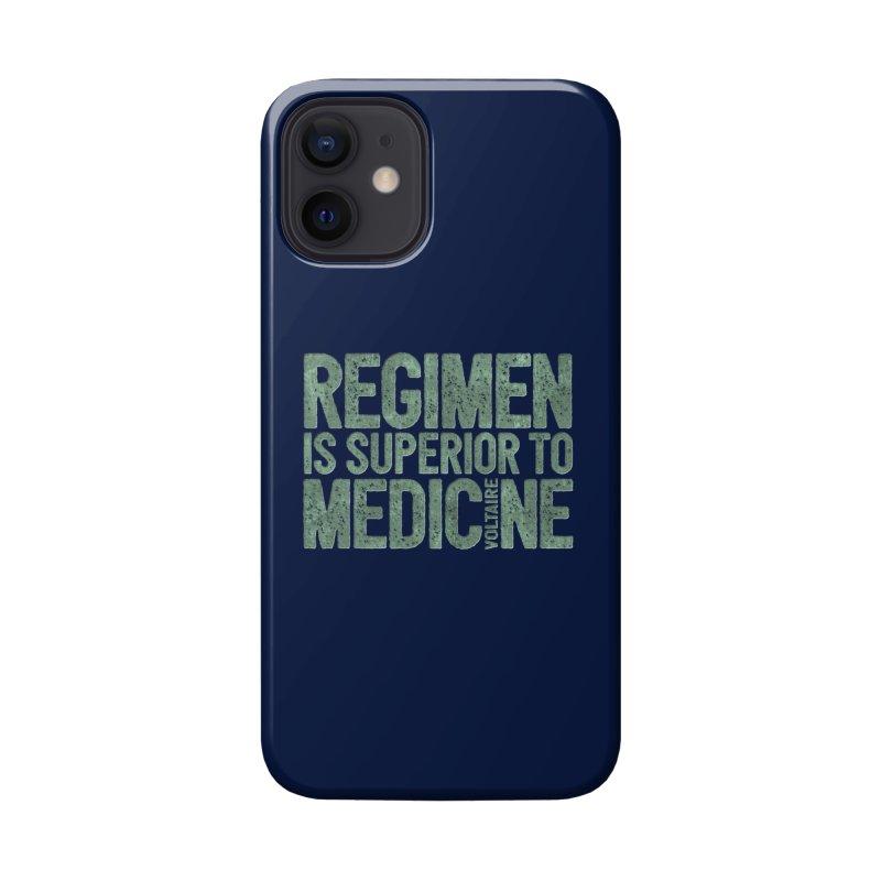 Regimen is superior to medicine Accessories Phone Case by Brett Jordan's Artist Shop