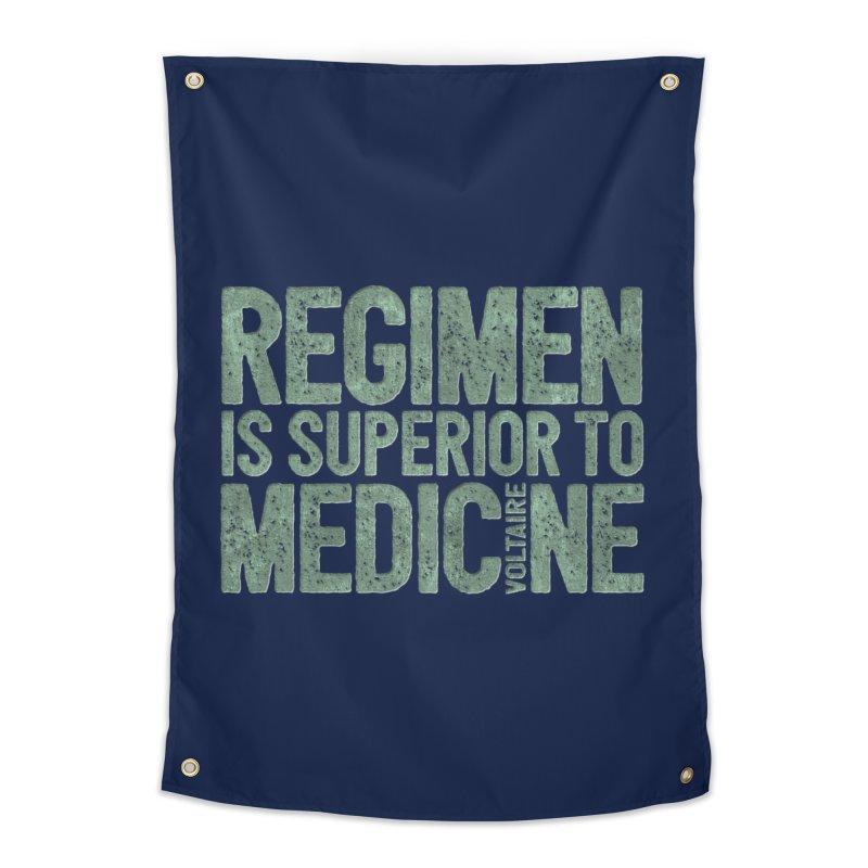 Regimen is superior to medicine Home Tapestry by Brett Jordan's Artist Shop