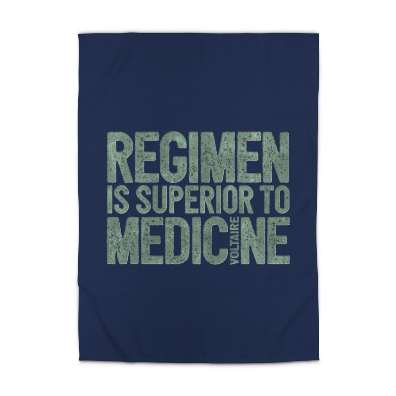 Regimen is superior to medicine Home Rug by Brett Jordan's Artist Shop
