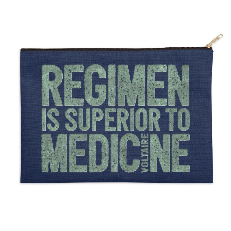 Regimen is superior to medicine Accessories Zip Pouch by Brett Jordan's Artist Shop