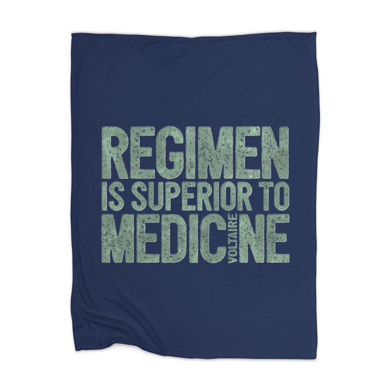 Regimen is superior to medicine Home Blanket by Brett Jordan's Artist Shop