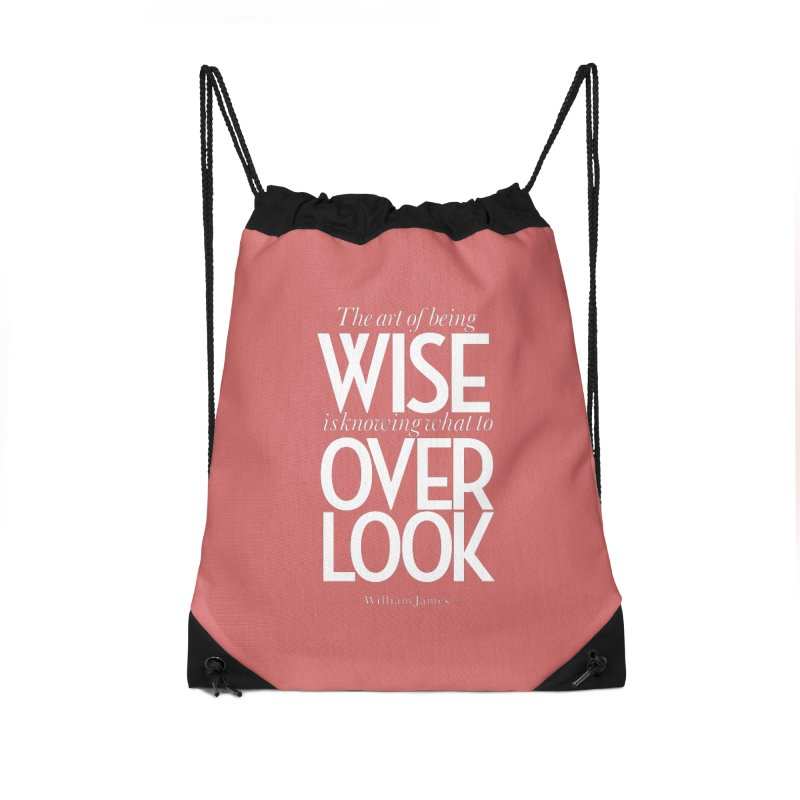 True Wisdom Accessories Drawstring Bag Bag by Brett Jordan's Artist Shop