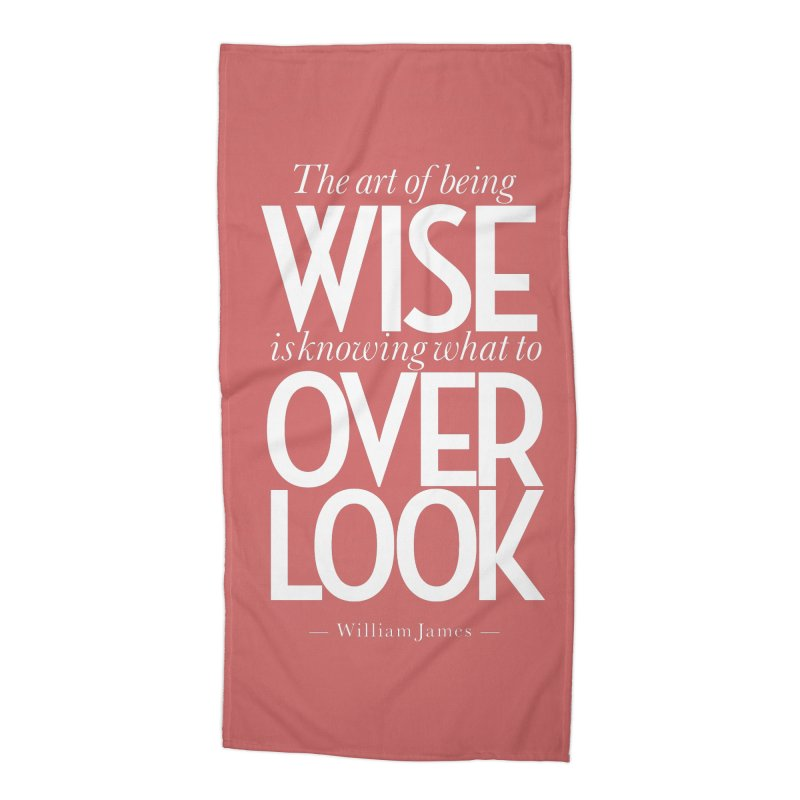 True Wisdom Accessories Beach Towel by Brett Jordan's Artist Shop