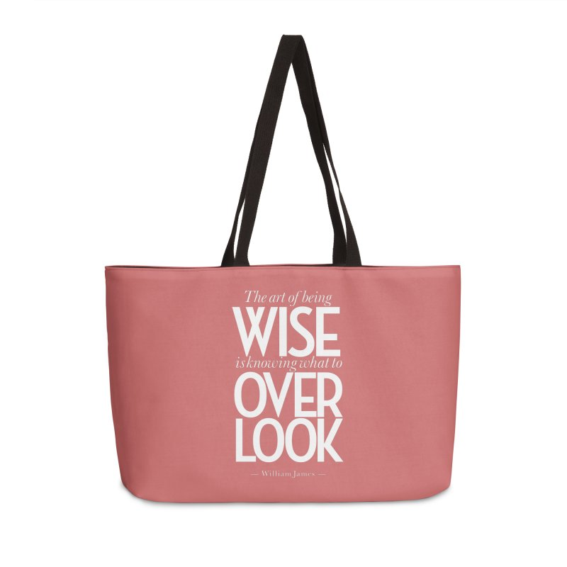 True Wisdom Accessories Weekender Bag Bag by Brett Jordan's Artist Shop