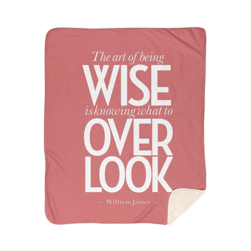 True Wisdom Home Sherpa Blanket Blanket by Brett Jordan's Artist Shop