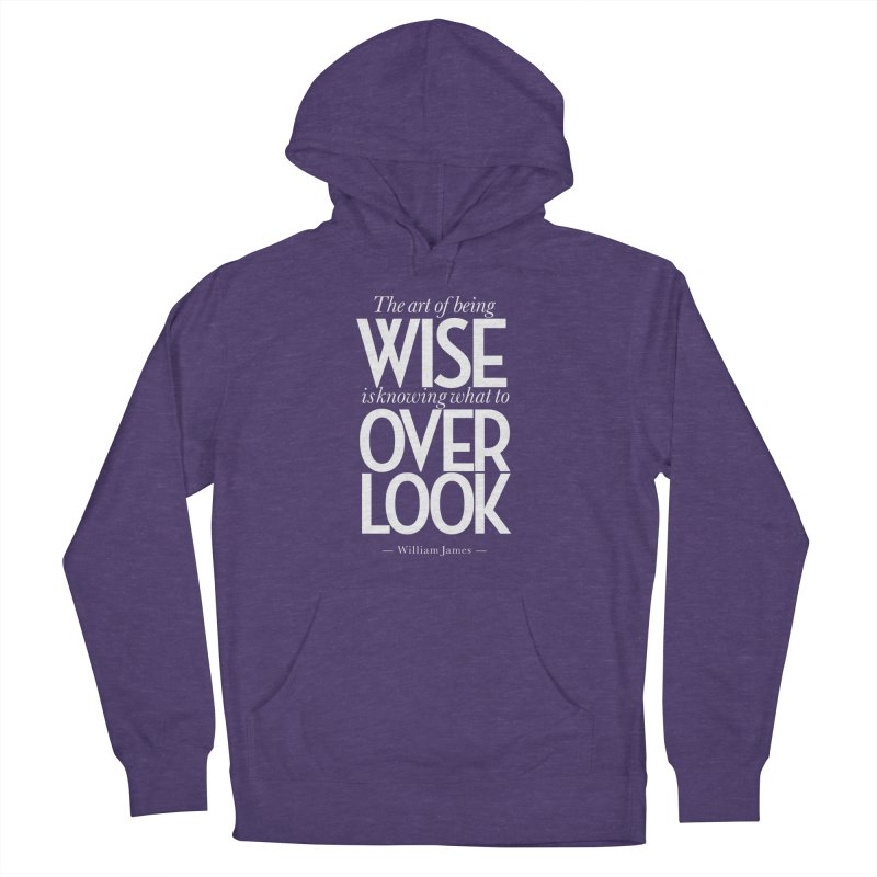 True Wisdom Men's French Terry Pullover Hoody by Brett Jordan's Artist Shop
