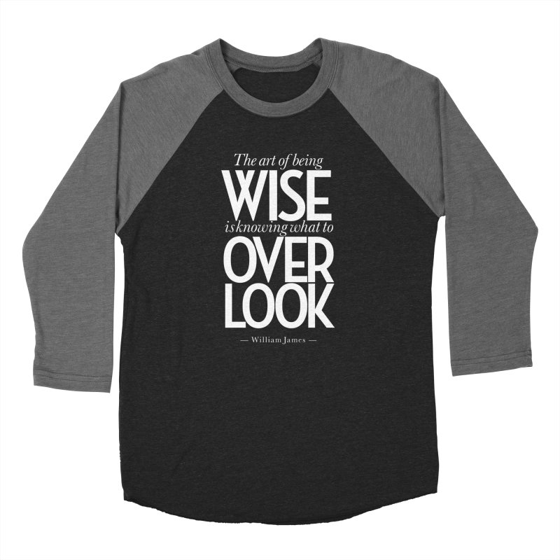 True Wisdom Men's Baseball Triblend Longsleeve T-Shirt by Brett Jordan's Artist Shop