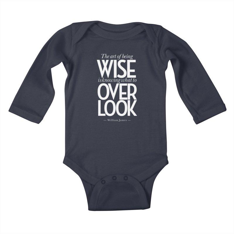 True Wisdom Kids Baby Longsleeve Bodysuit by Brett Jordan's Artist Shop