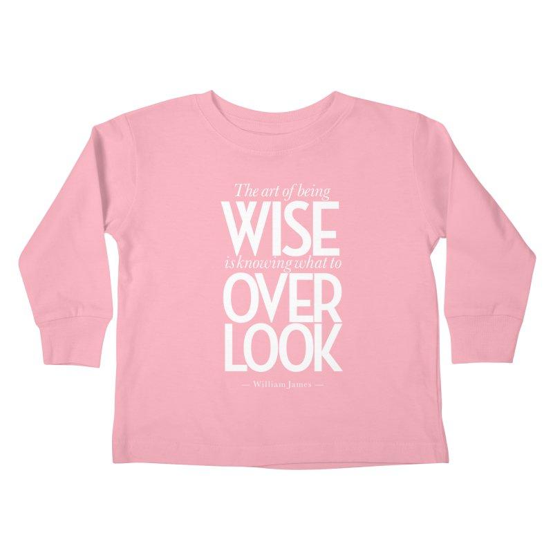 True Wisdom Kids Toddler Longsleeve T-Shirt by Brett Jordan's Artist Shop