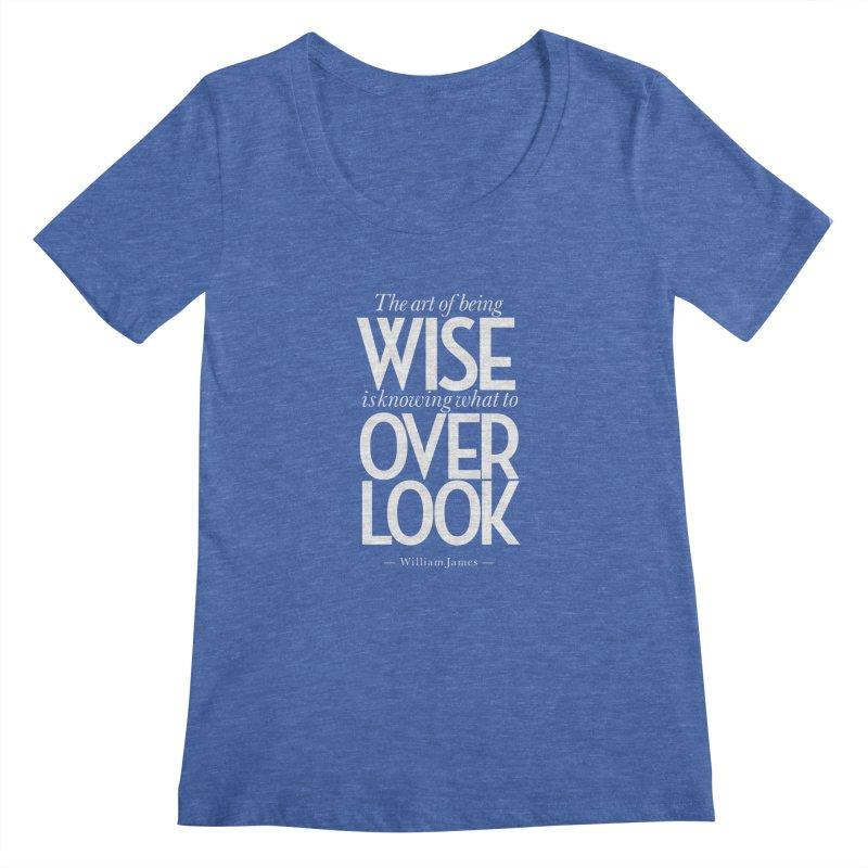 True Wisdom Women's Regular Scoop Neck by Brett Jordan's Artist Shop