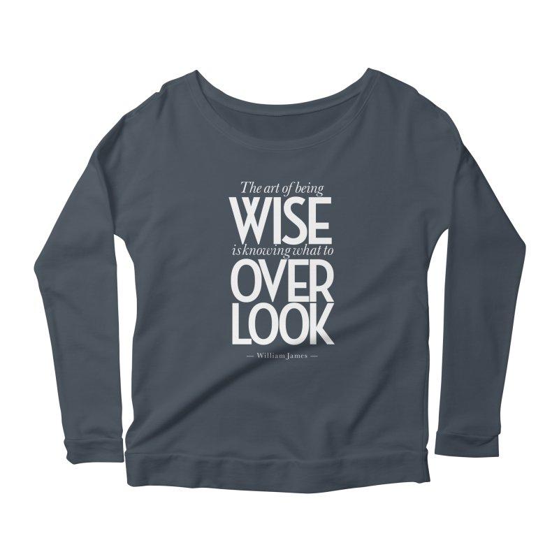 True Wisdom Women's Scoop Neck Longsleeve T-Shirt by Brett Jordan's Artist Shop