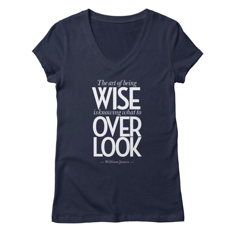 True Wisdom Women's Regular V-Neck by Brett Jordan's Artist Shop