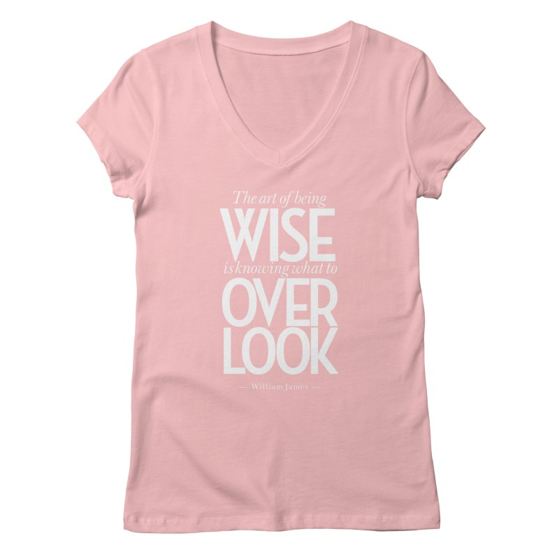 True Wisdom Women's Regular V-Neck by Brett Jordan's Artist Shop