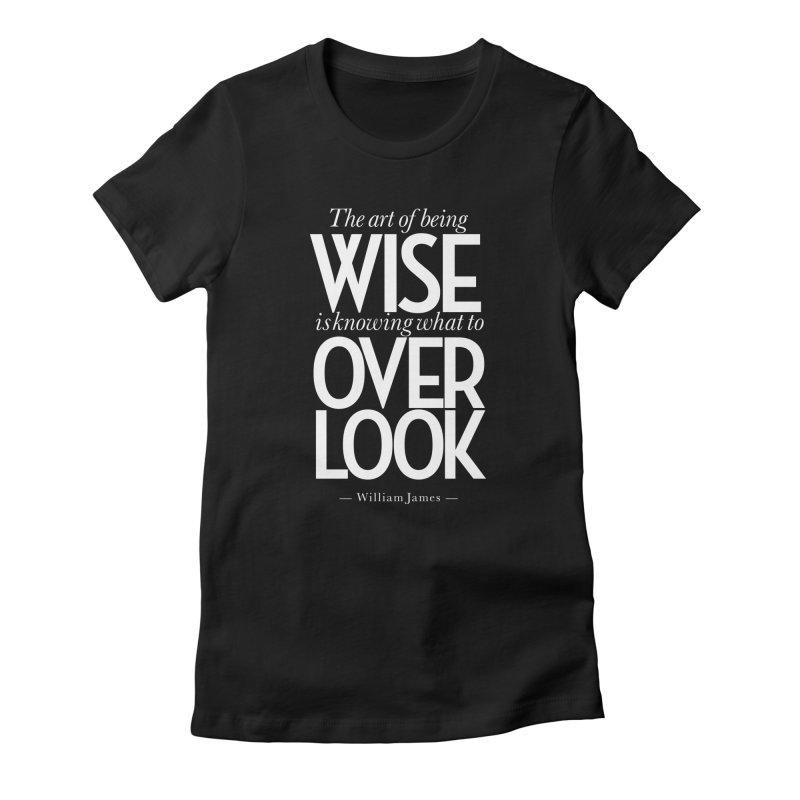 True Wisdom Women's Fitted T-Shirt by Brett Jordan's Artist Shop